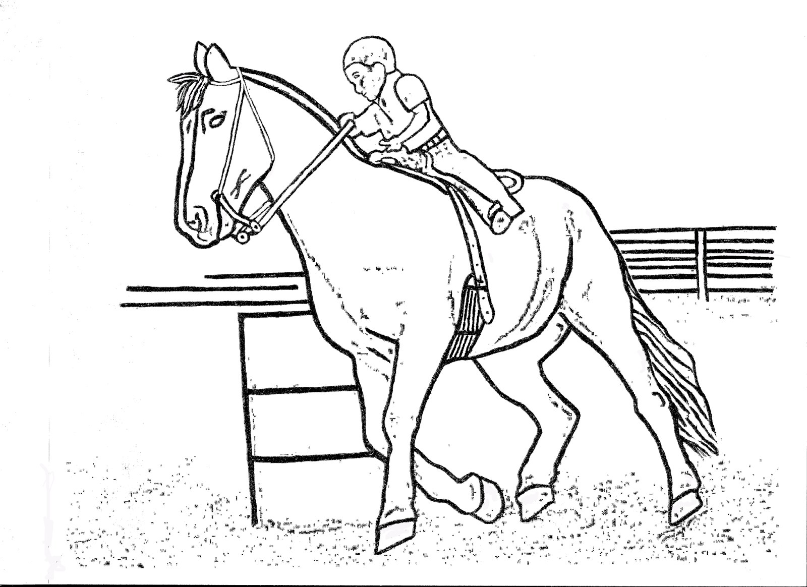 1600x1164 Horse Racing Color Pages Race Coloring Page Free Printable Animals