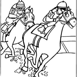 268x268 Jockey Hat Coloring Page Kids Drawing And Coloring Pages