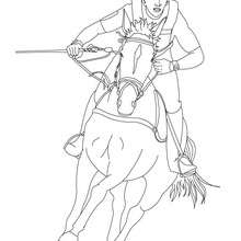 220x220 Jockey On A Galloping Horse Coloring Pages