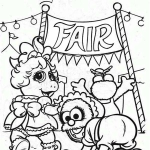 300x300 Muppet Babies Horse Jockey On Sunny Day Coloring Pages Muppet