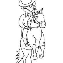220x220 Horse Training Coloring Pages