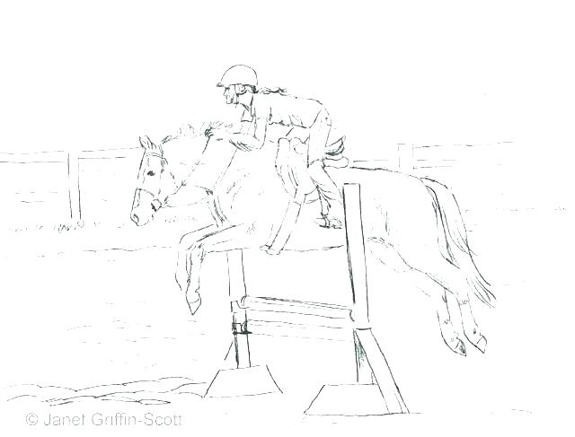 640x487 Horse Jumping Coloring Pages Horse Racing Coloring Pages Horses