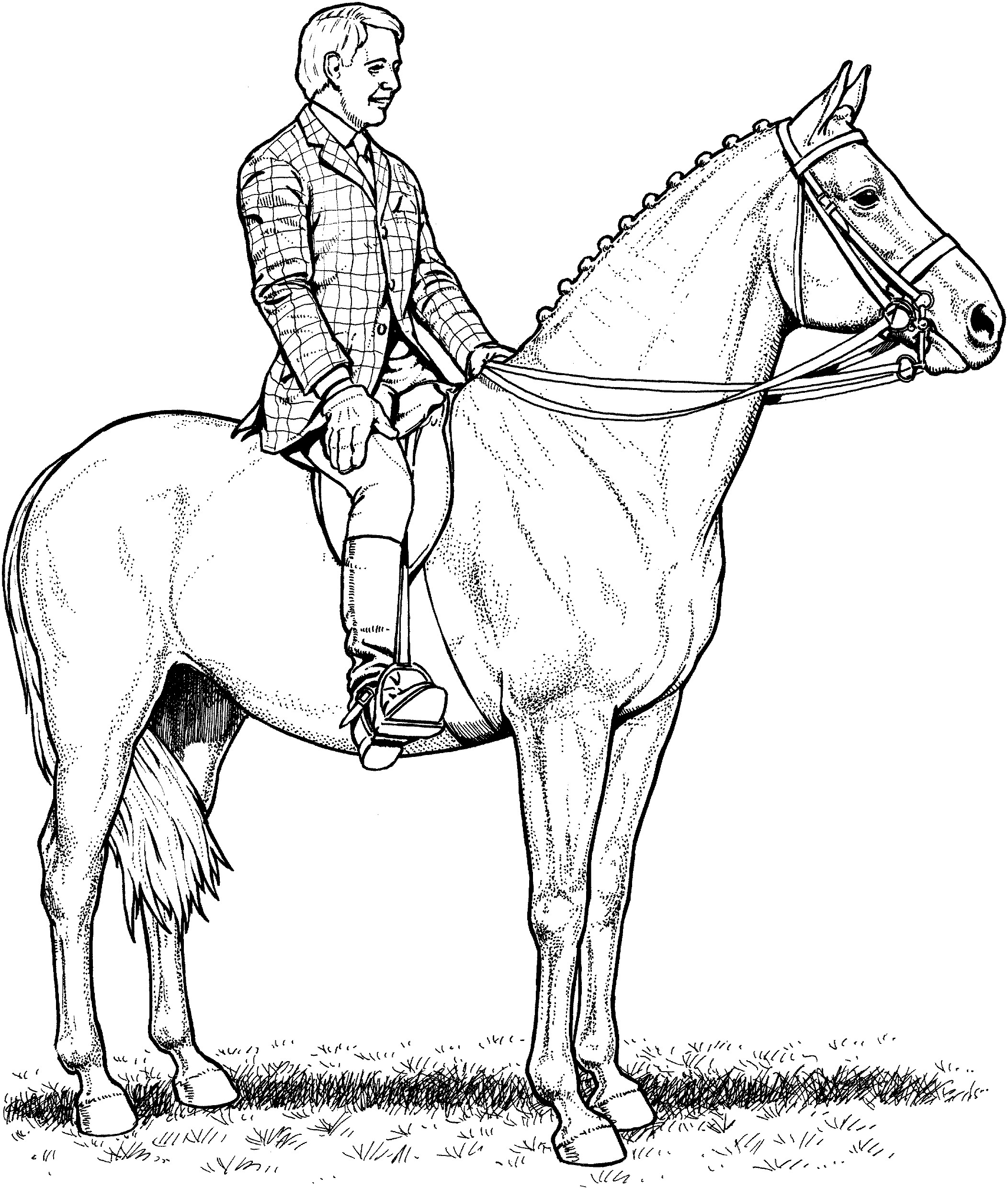2105x2482 Lovely Coloring Pages Horse And Rider