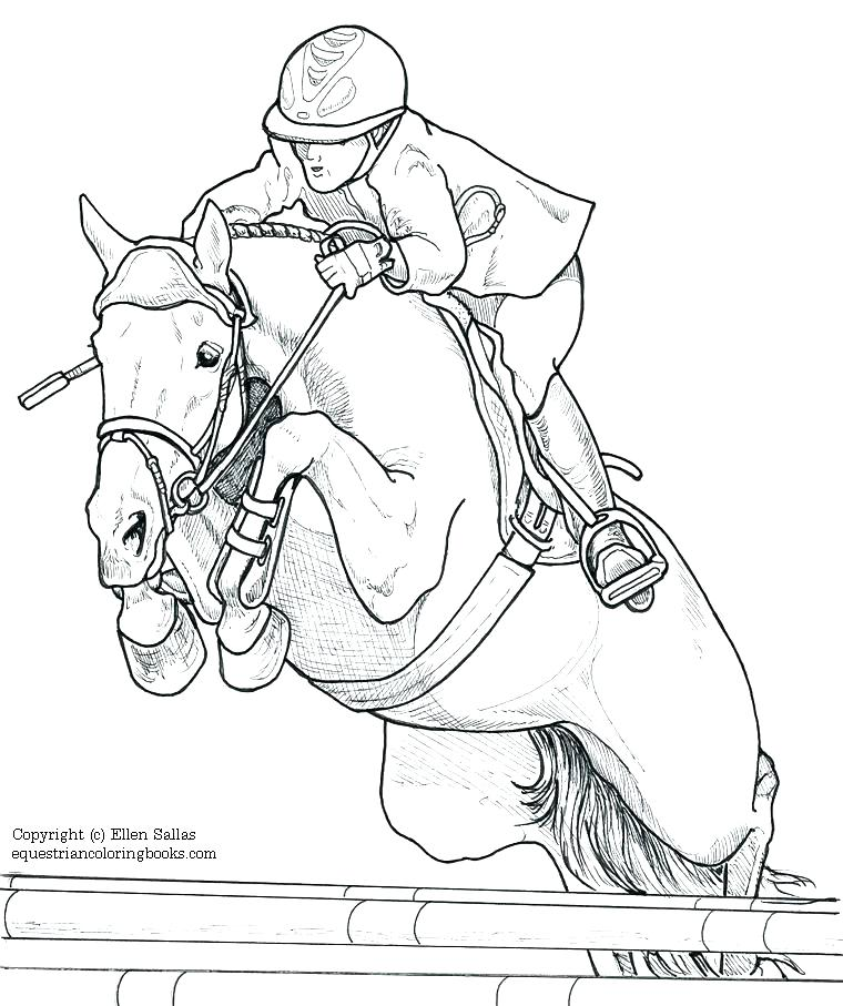760x907 Horse Jumping Coloring Pages Grandmaman Site