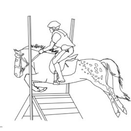 268x268 Coloring Page Horse Jumping Archives