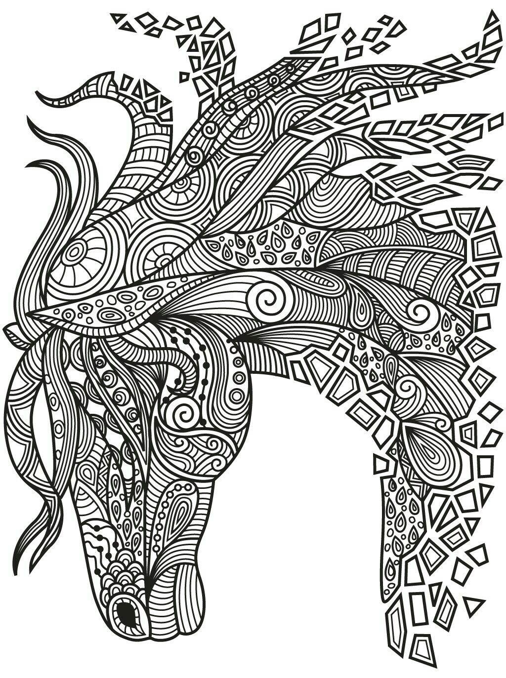 1024x1373 Beautiful Zentangle Horse Colorish Coloring Book App For Adults