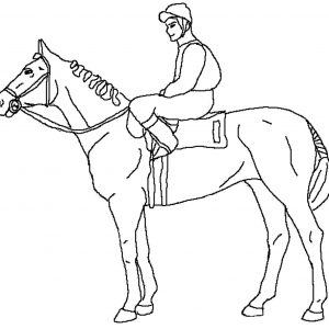 300x300 Coloring Pages Race Horses Best Of Jockey In A Horse Racing