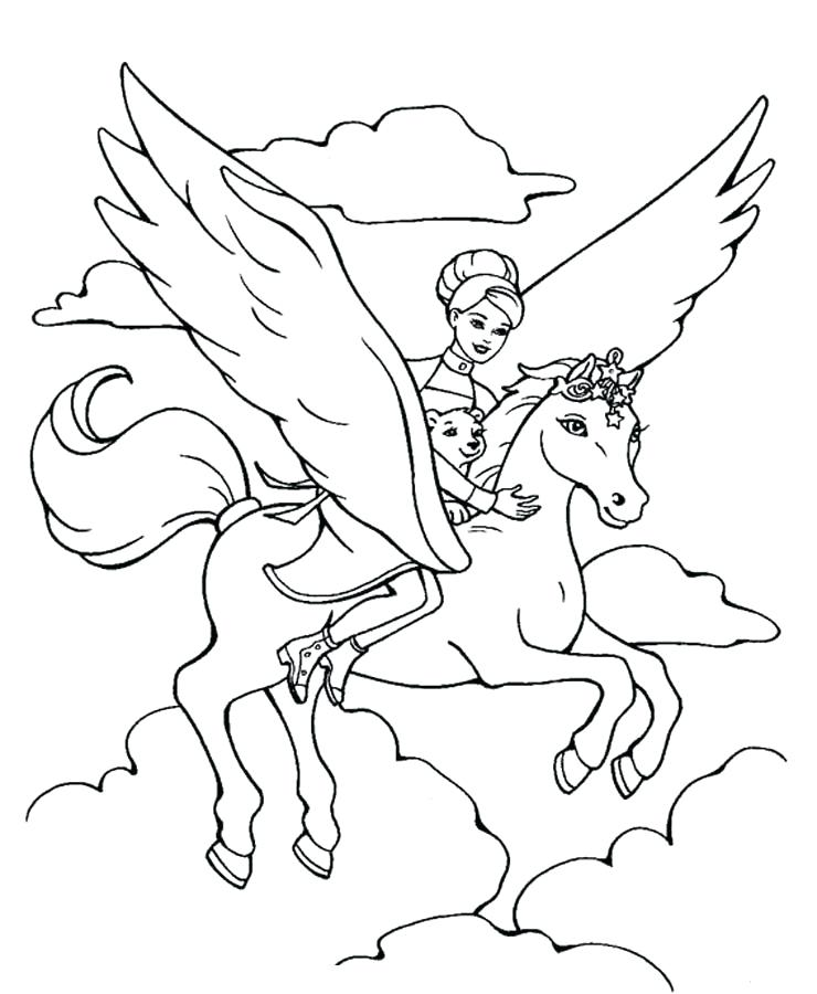 740x900 Free Printable Horse Coloring Pages For Kids Flying Horse Coloring