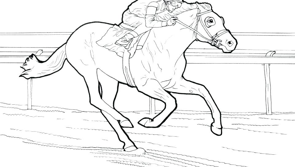 960x544 Horse Racing Color Pages Horse Coloring Page Of Racing Barrel