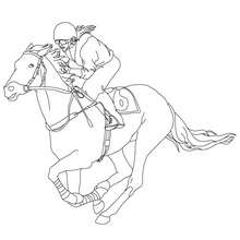220x220 Horse Race Coloring Pages