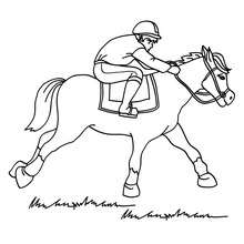 220x220 Horse Racing Coloring Pages