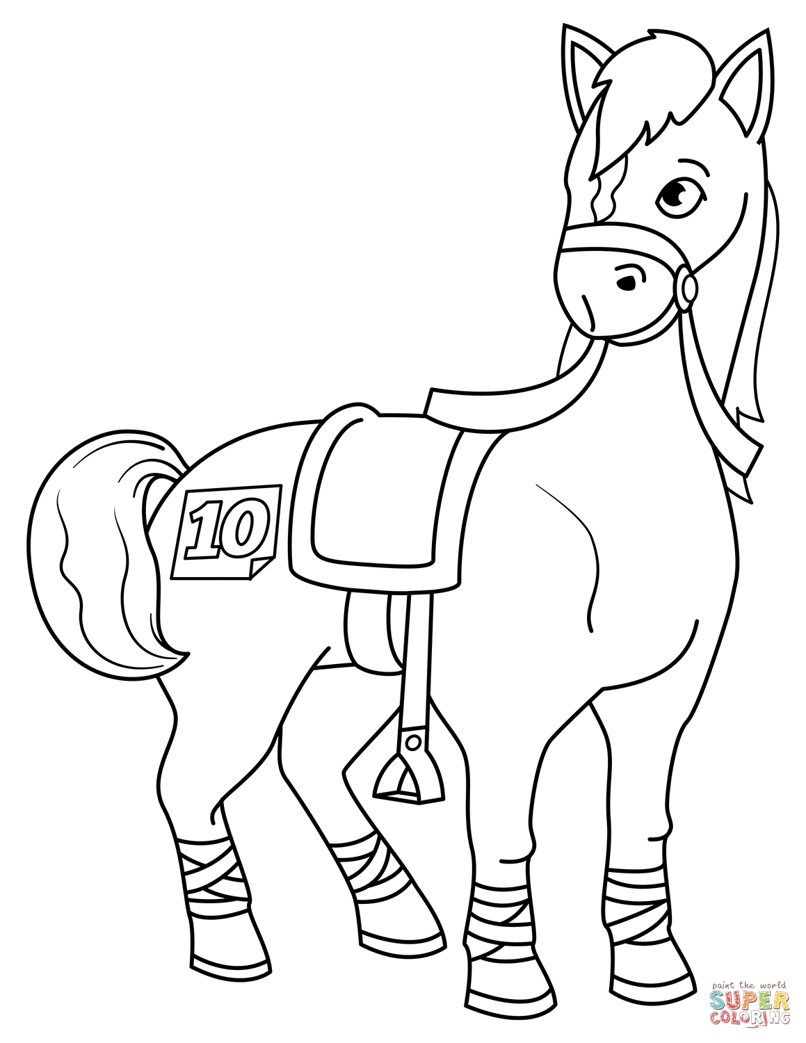 1159x1500 Race Horse Coloring Pages To Print