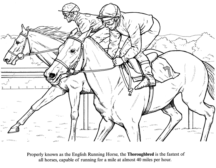 750x585 Race Horse Coloring Pages To Print