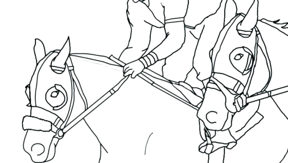 960x544 Race Horse Coloring Pages