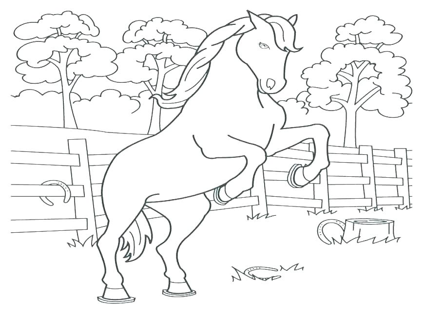 870x653 Horse Jumping Coloring Pages Colouring Pages Horses Jumping