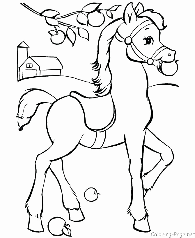 Horse Running Coloring Pages