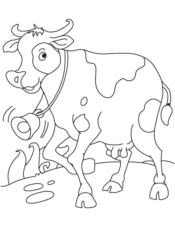 612x792 Running Coloring Pages Running Coloring Pages Cow Page Realistic