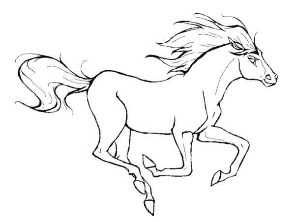 600x452 Running Coloring Pages Running Horse Animal Coloring Page Person