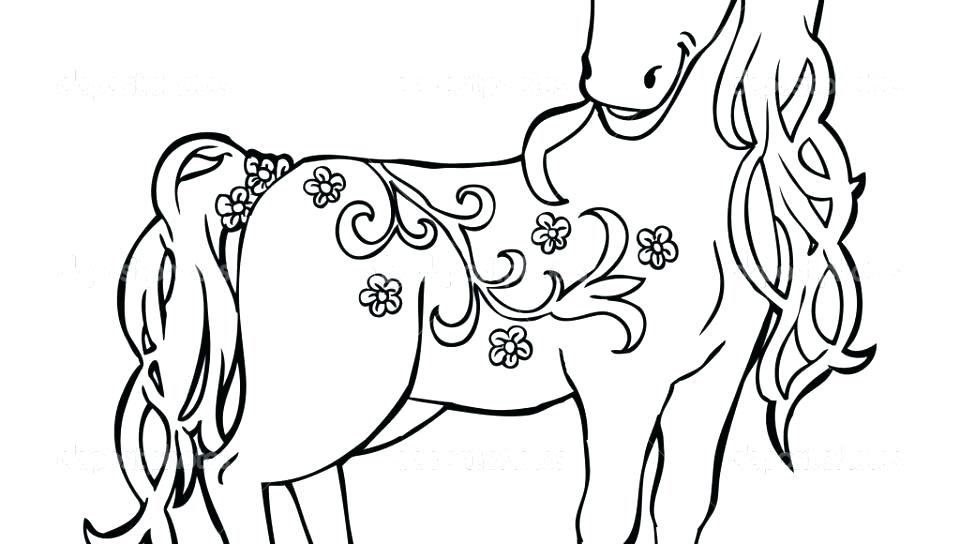 960x544 Running Horse Coloring Pages Able Realistic Horse Running Coloring