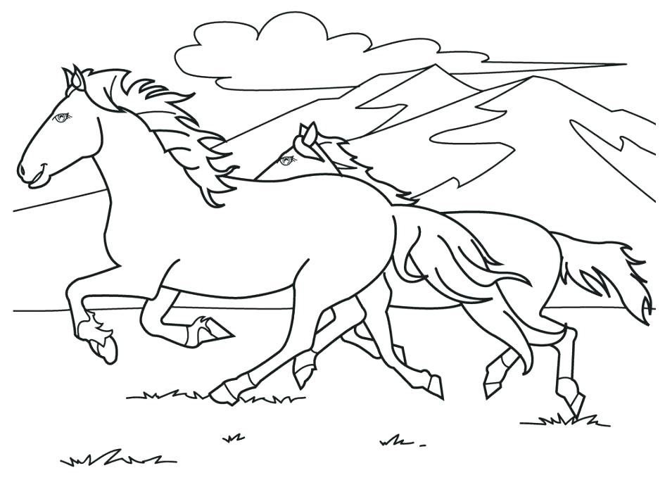 945x709 Free Coloring Pages Of Horses Running Arabian Horse Coloring Page