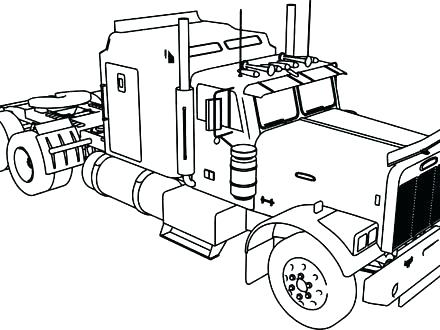 440x330 Truck And Horse Trailer Coloring Pages Inspirational Horse Trailer