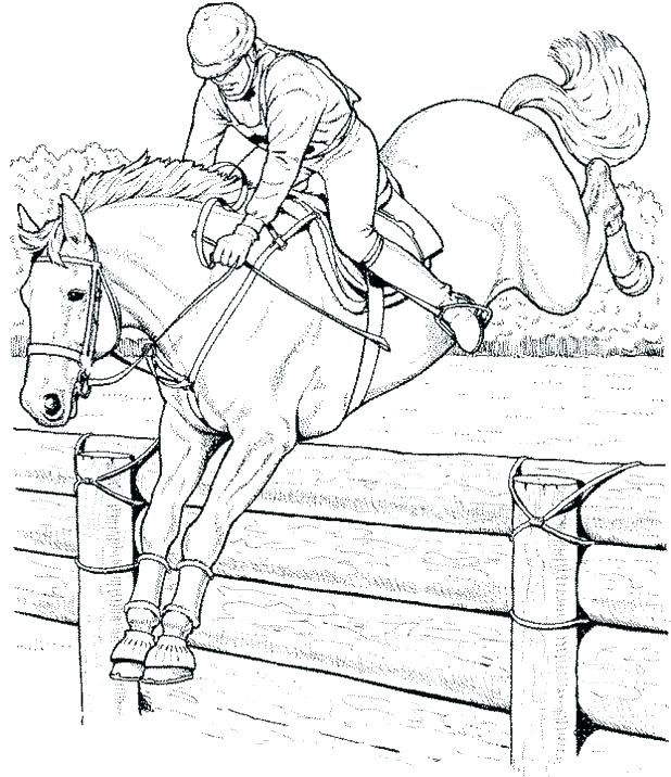 618x716 Breyer Coloring Pages Horse Coloring Pages Horse Jumping Coloring