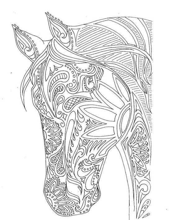 Horse Zentangle Coloring Pages