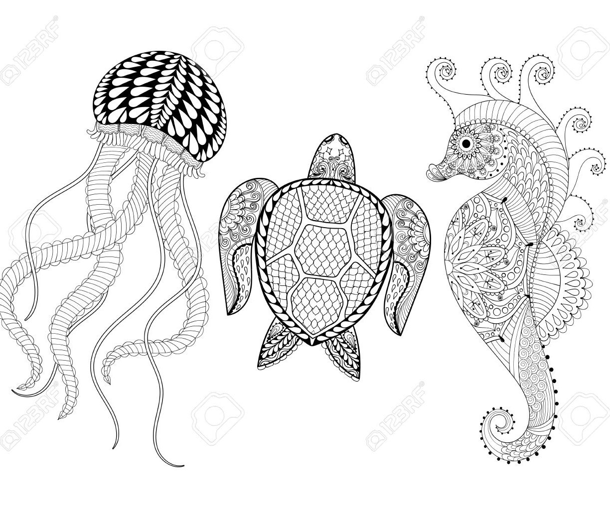 1224x1040 Good Jellyfish Coloringagehotoagesreschool Freerintable Box Nemo