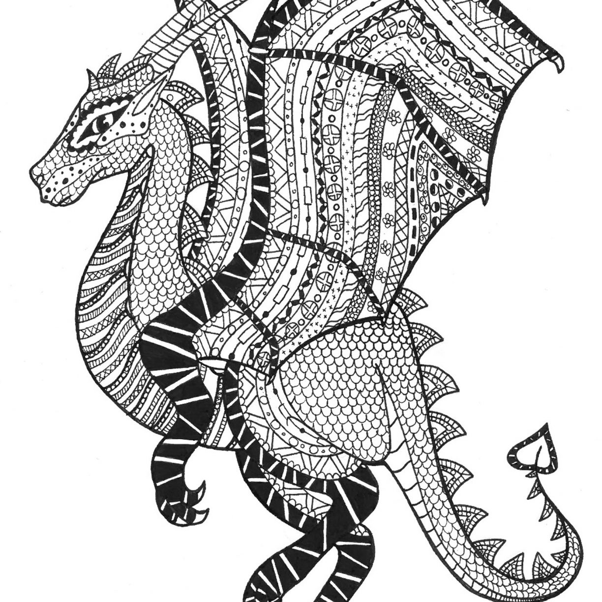 1224x1224 Turtle Zentangle Coloring Page Free Printable Extreme Pages