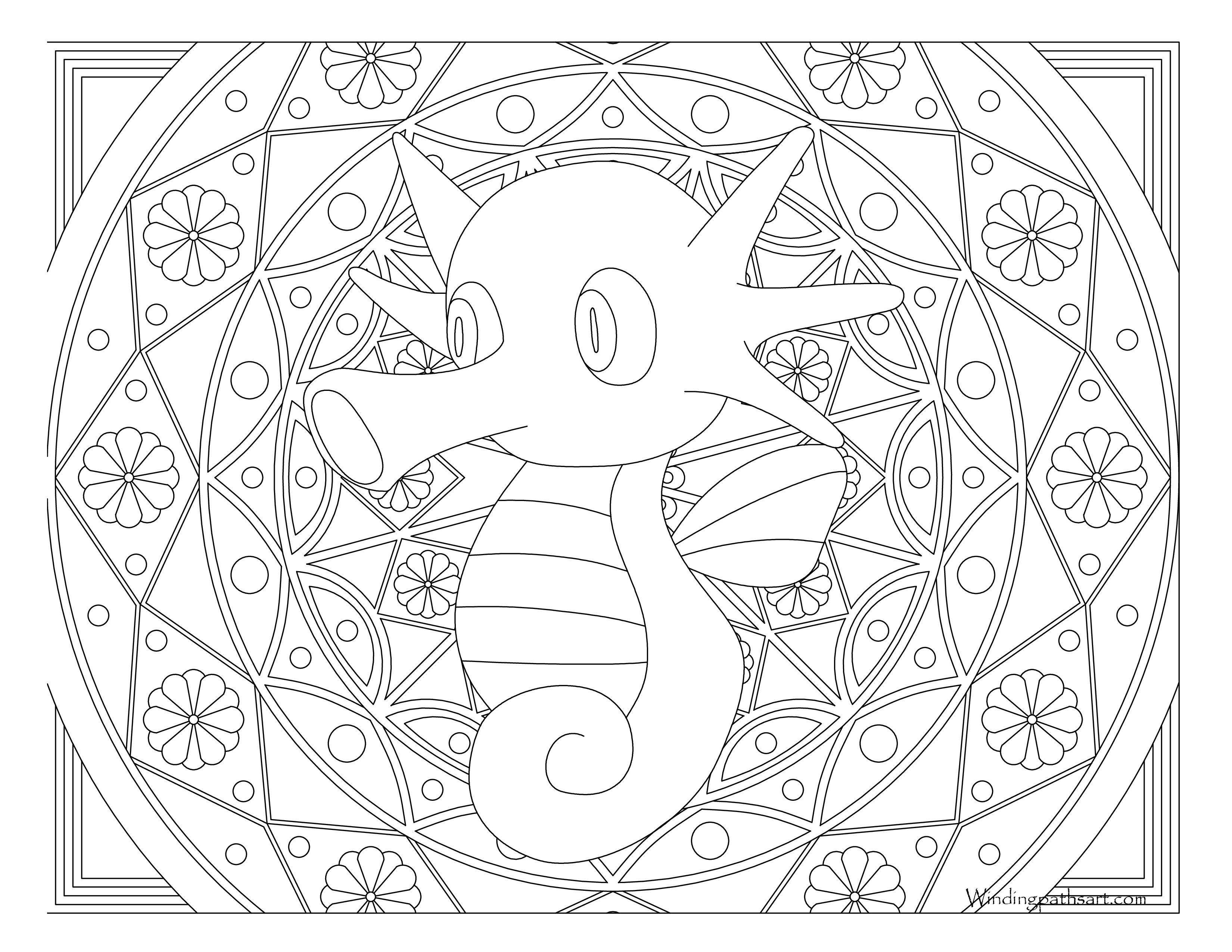 Horsea Coloring Pages