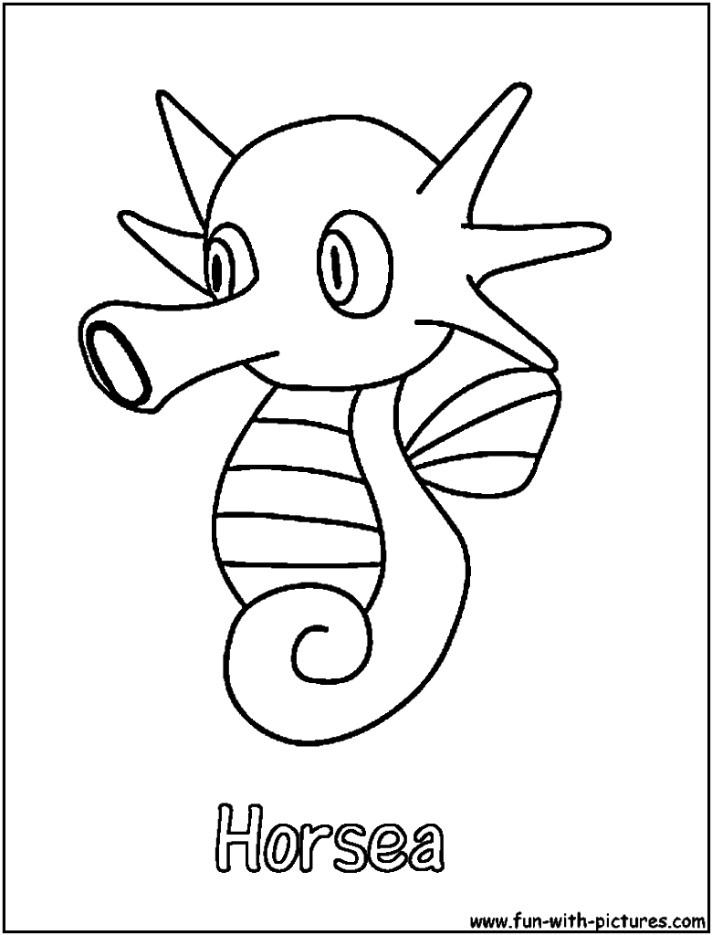 780x1024 Horsea Coloring Page Pokemon Horsea Coloring Pages In Animal