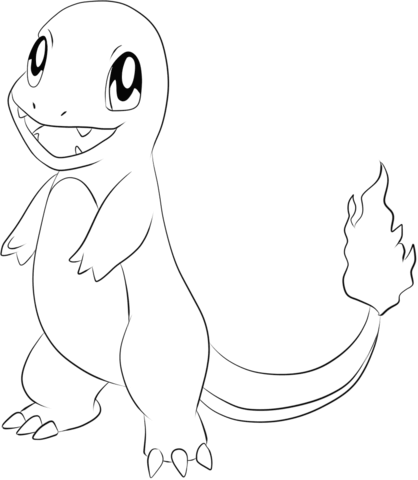 418x480 Charmander Coloring Page From Generation I Pokemon Category
