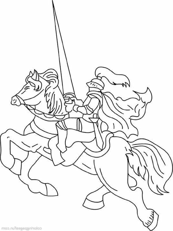 Horseback Riding Coloring Pages
