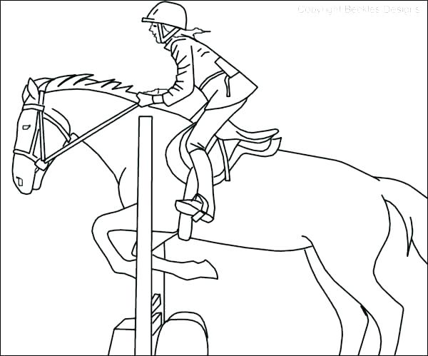 600x499 Horseback Riding Coloring Pages Princess Riding A Horse Coloring