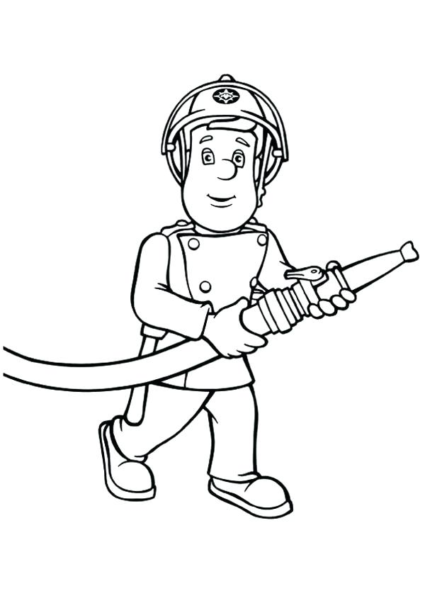 600x841 Fireman Sam Coloring Pages Fireman Bring Hose Coloring Page