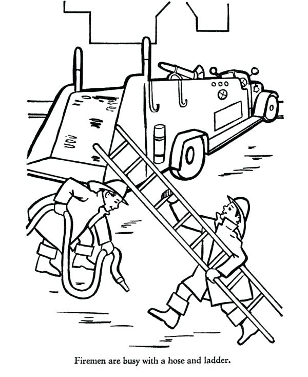 600x734 Coloring Page Fire Truck Fire Truck Coloring Pages And Fire Truck
