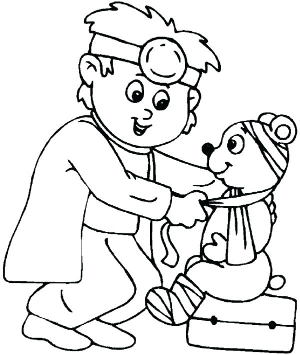 600x709 Hospital Coloring Pages Building Coloring Pages Hospital Coloring