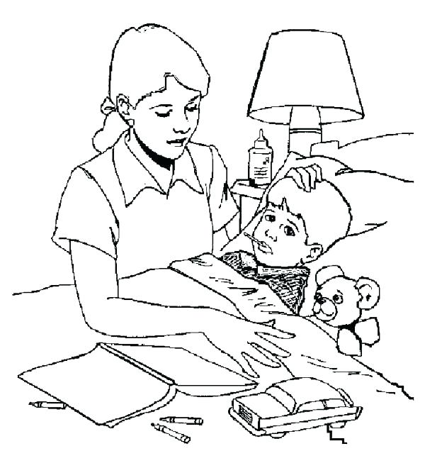600x660 Hospital Coloring Pages Coloring Page Hospital Buildings