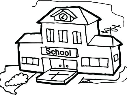 440x330 School Building Coloring Pages Architectcluding Measurements