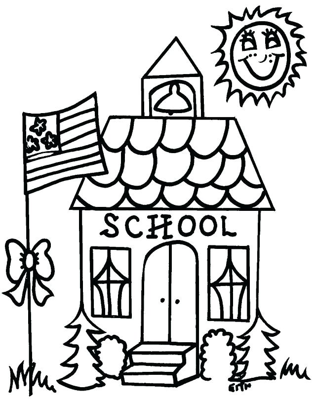 640x812 School Building Coloring Pages To Print For Fuhrer Von