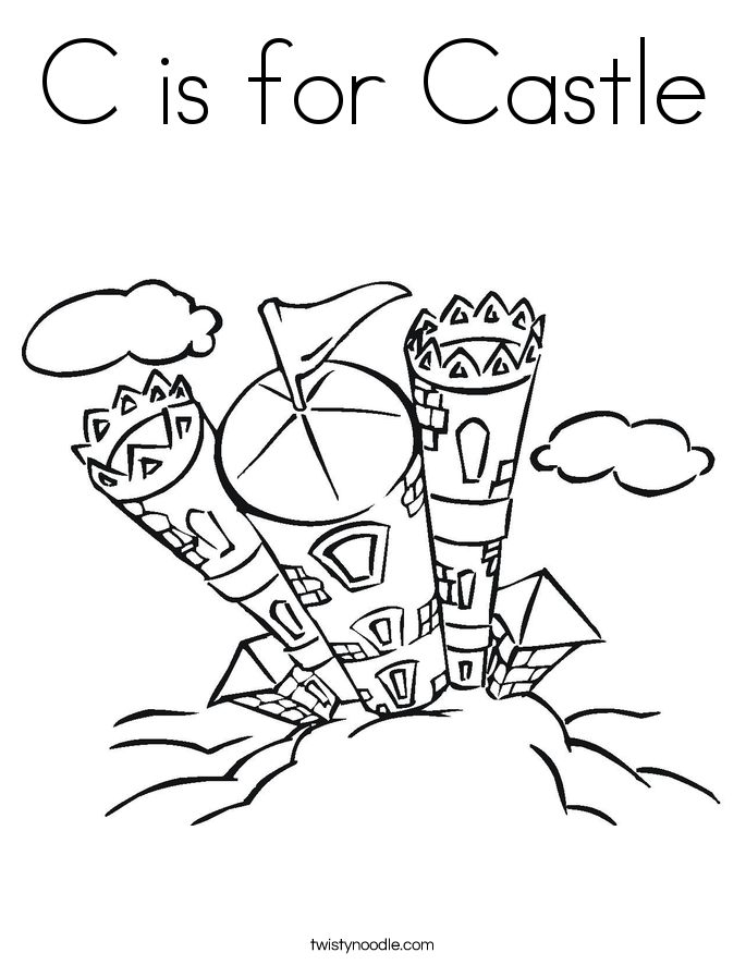 685x886 C Is For Castle Coloring Page