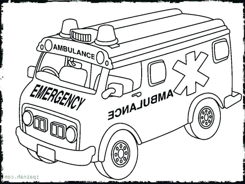 800x600 Hospital Coloring Pages Ambulance Coloring Page Ambulance Coloring