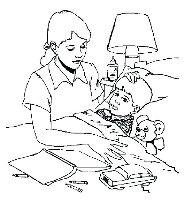 600x660 Hospital Coloring Pages