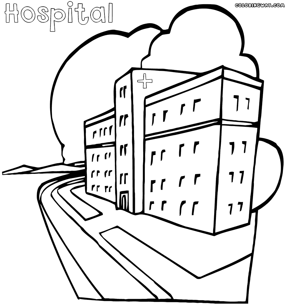 945x1000 Best Of Hospital Building Coloring Page Design Printable