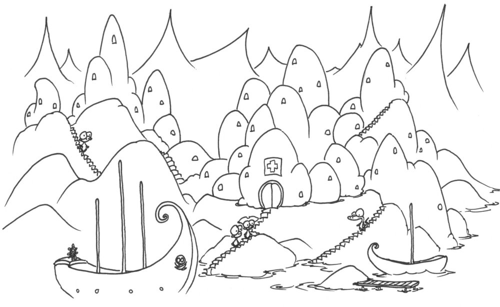 1000x613 Coloring Pages Monkeys Going To A Monkey Hospital
