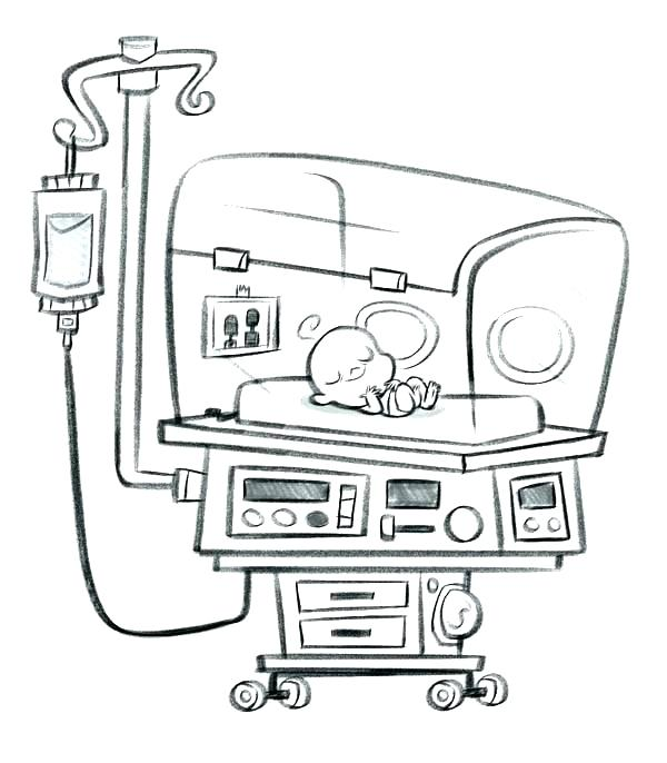 600x686 Coloring Pages Of Hospital