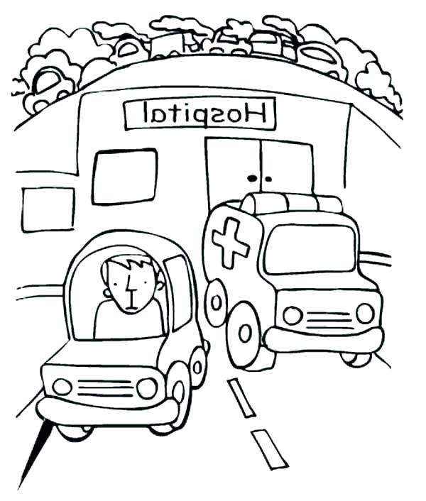 600x706 Coloring Pages Of Hospital Coloring Pages Of Hospital Coloring