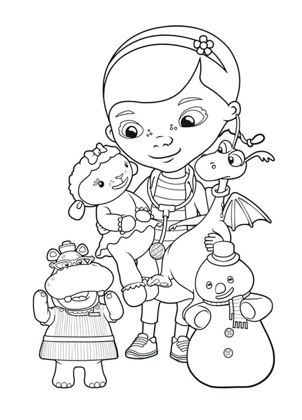 600x834 Doc Mcstuffins Printable Coloring Pages Doc Toy Hospital Coloring