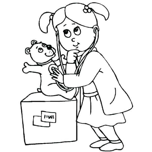 600x600 Coloring Pages Doctor Hospital Coloring Pages This Is Doctor