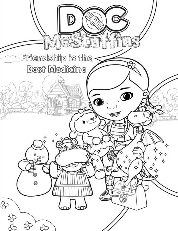 600x778 Doc Mcstuffins Toy Hospital Coloring Pages